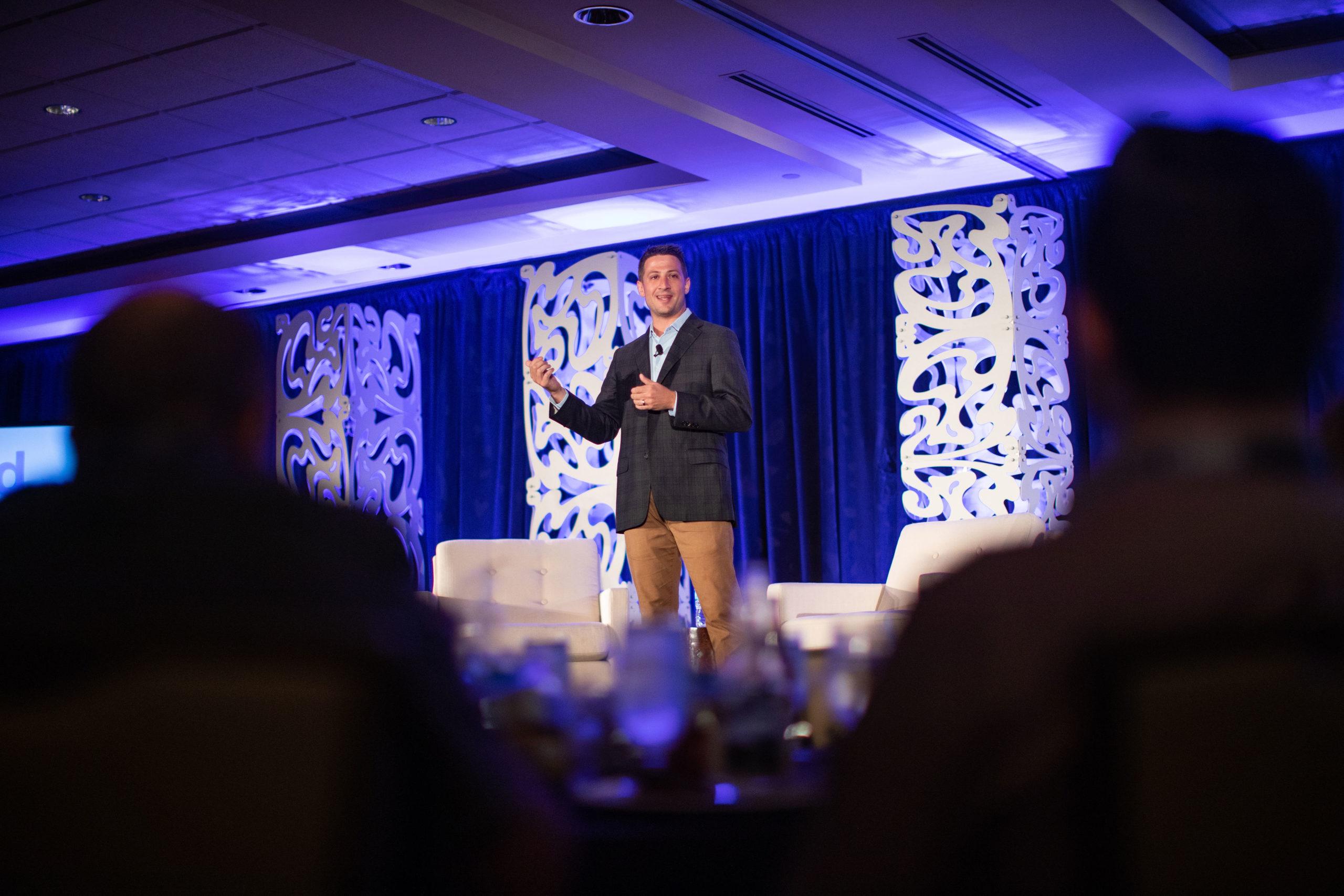 Evan Feinberg presenting at Catalyst event in Denver 2019